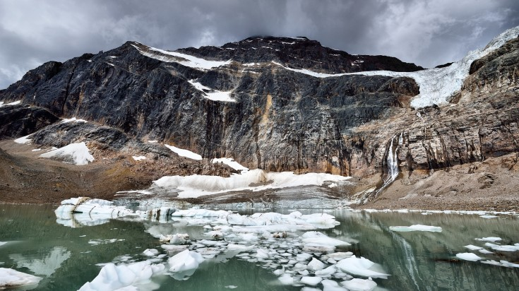 Mount Edith Cavell in Canadian Rockies