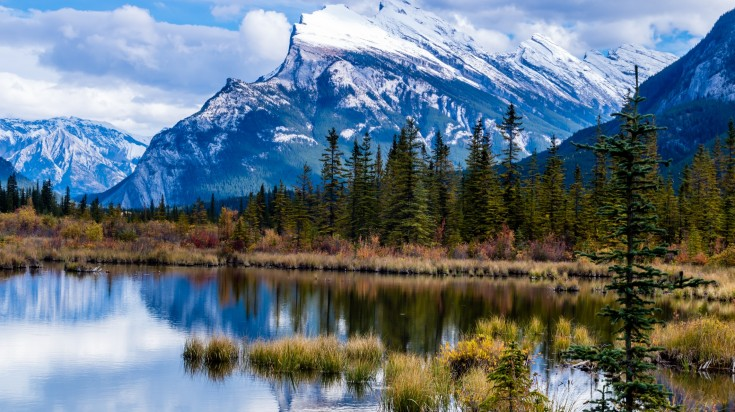 Vermillion Lakes in Canadian Rockies