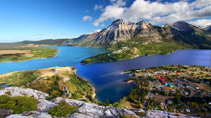 Waterton Lake National Park in Canadian Rockies