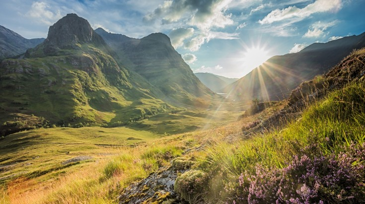 The view of mountains of Glencoe