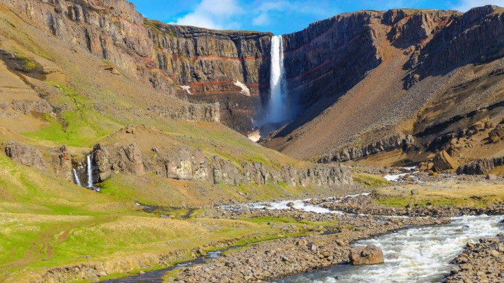 Hengifoss is a beautiful day hiking trail in Iceland