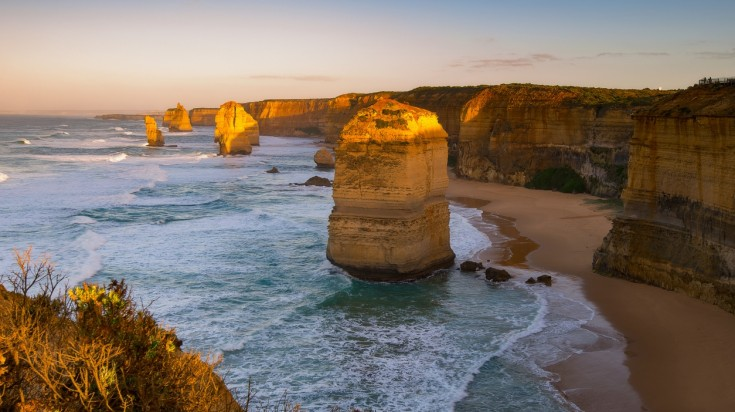 Visit the 12 Apostles from Melbourne and be awed by the gigantic limestones