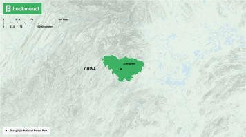 An overview map of Zhangjiajie National Forest Park