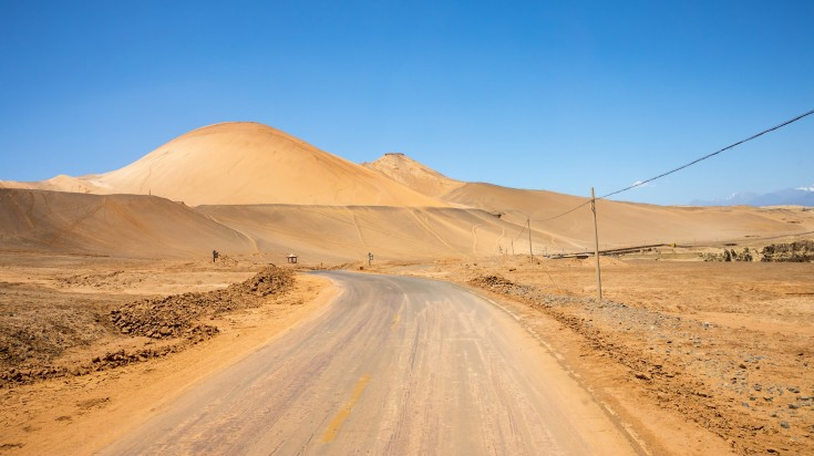 A road stretching out to the dessert