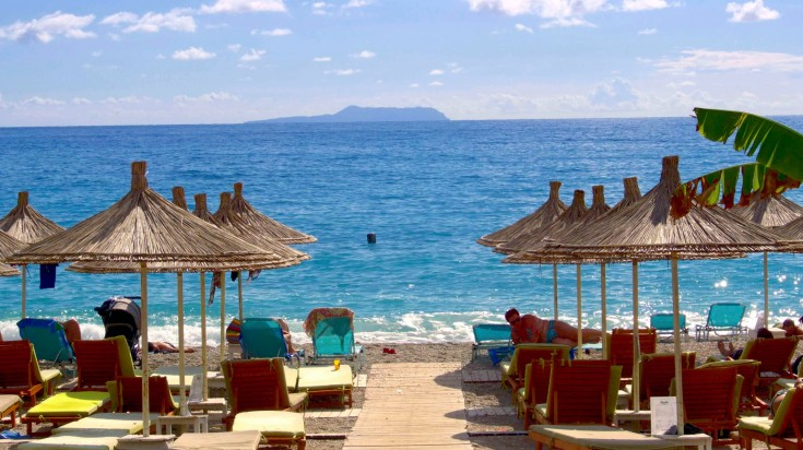 Kick back and take it easy in the summery vibe of Dhermi