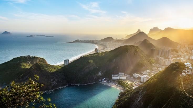 The sun drench city of Rio de Janeiro