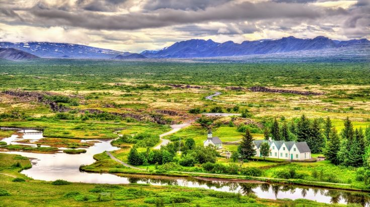 Thingvellir national park is home to a 19th century church