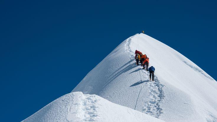 Island Peak is one of the most popular 6,000 m peaks in Nepal