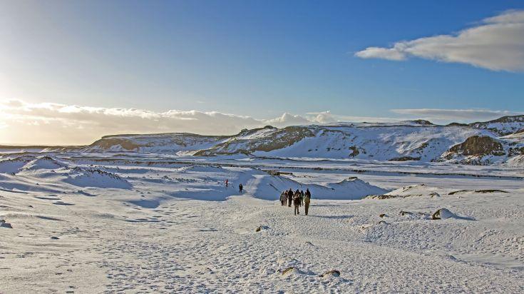 Solheimajokull glacier walk in Iceland
