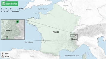 Map for Adventurous activities in France