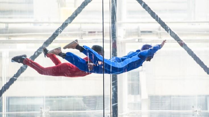 Adventures in Dubai, indoor skydiving