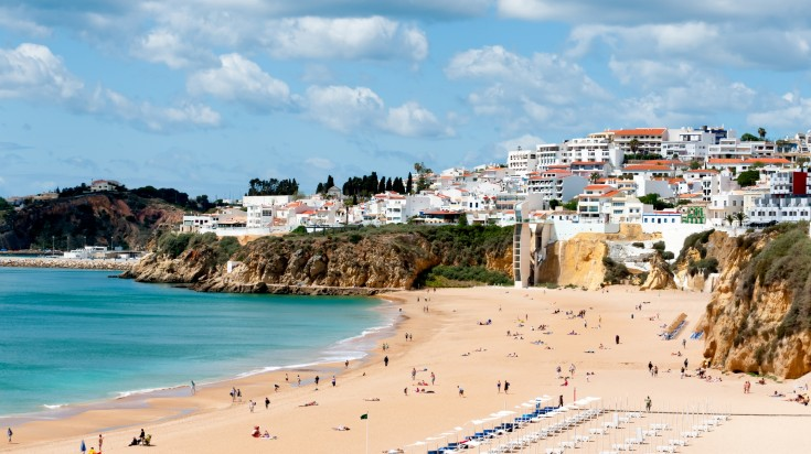 Located in western Portugal, Albufeira beach is a stunning place to be at.