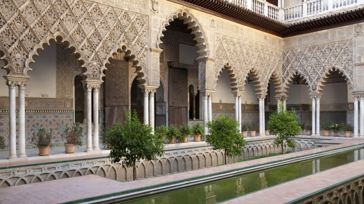 Patios in the Real Alcazar of Seville