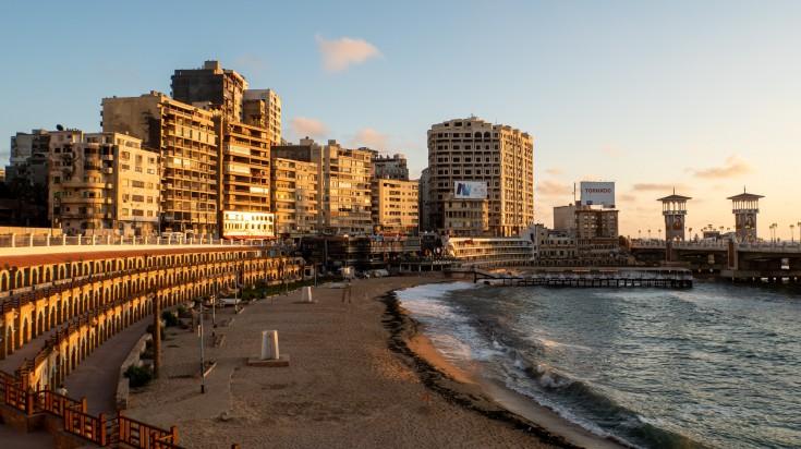 Alexandria is a Mediterranean port city in Egypt.