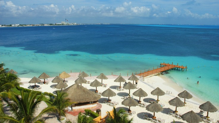 Amazing view of Cancun beach