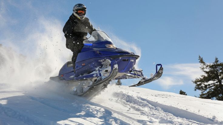 Snowmobiling on Langjokull Iceland