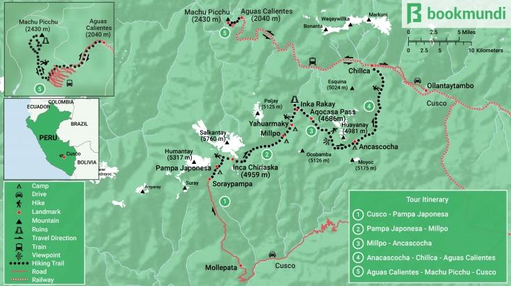Map of Ancascocha trek