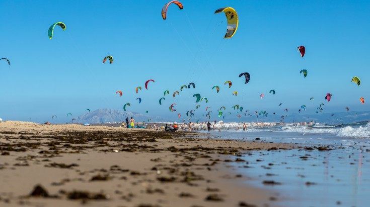 Tarifa is a kitesurfer's paradise in Andalucia