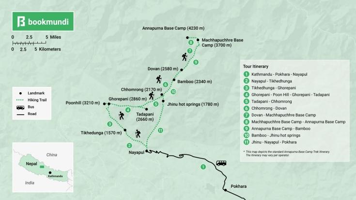 Annapurna Base Camp map