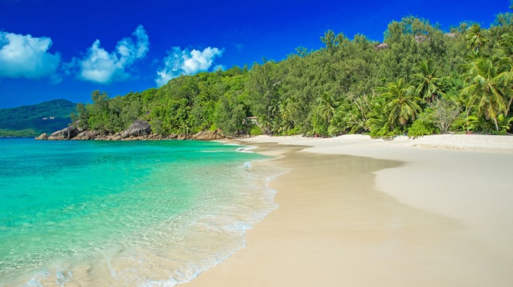 Anse Soleil is the ultimate tropical paradise beach.