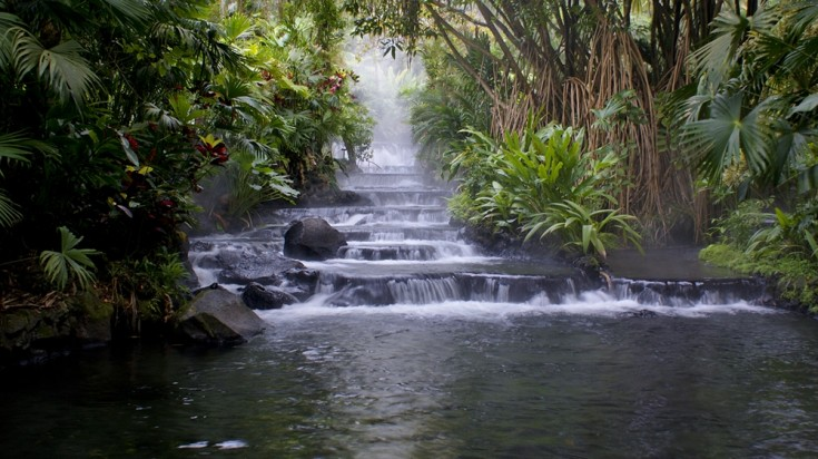 The hot springs around Arenal Volcano vary in depth and temperature