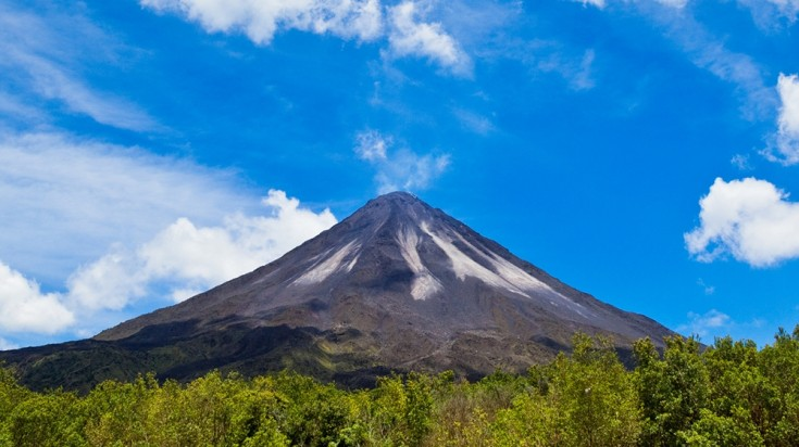 Arenal Volcano is the most popular volcano in Costa Rica