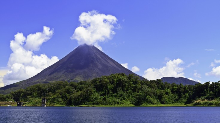 Arenal Volcan in Costa Rica is one of the most popular locations to visit.