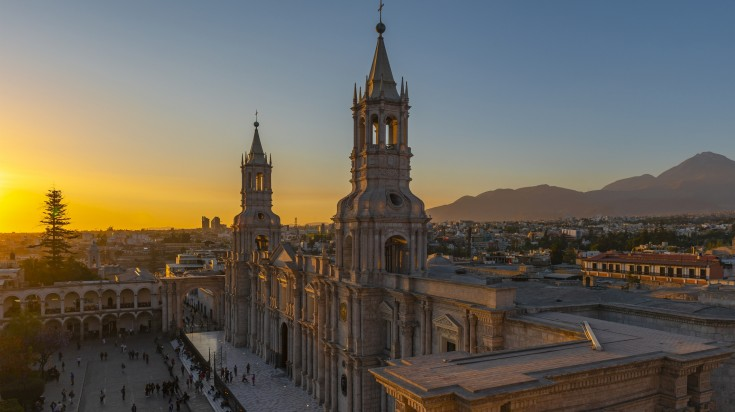 Arequipa is the second most populated city located in Peru.