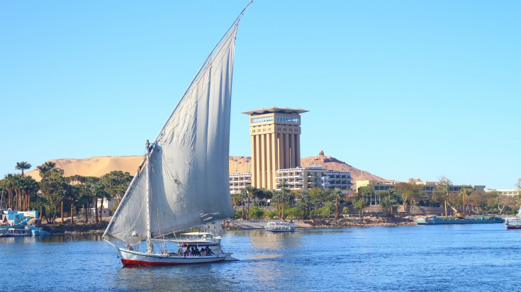 Aswan, an ancient city of Egypt on the Nile River