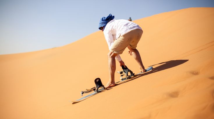 Sandboarding in the Atacama Desert, Chile