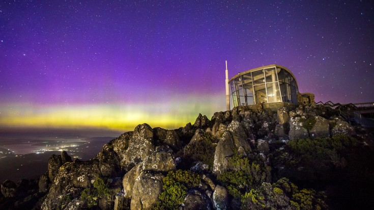 aurora australis southern lights hobart