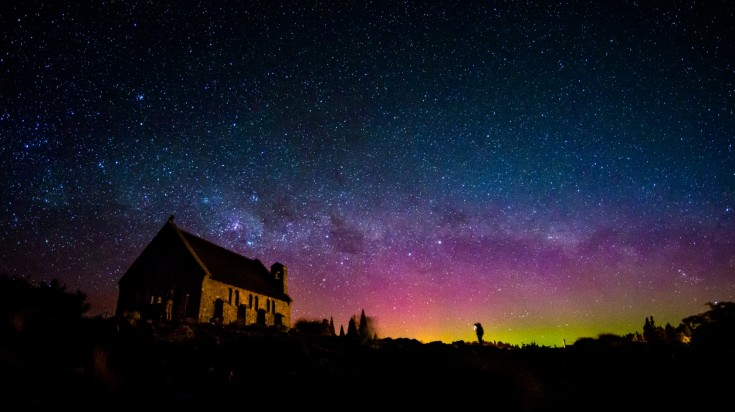 aurora australis southern lights south island
