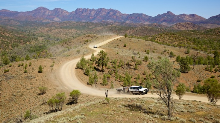 Australian outback, driving in the flinders ranges