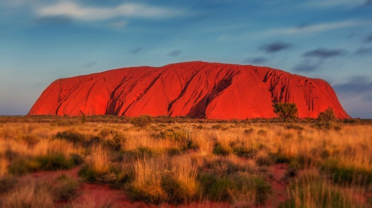 The Uluru rock is an iconic landscape of the Australian outback