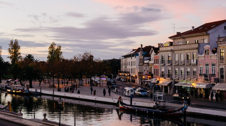 Aveiro is a town on the west coast of Portugal.