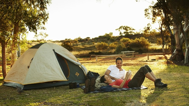 Camping in Uluru Kata-Tjuta National Park is available in different budgets