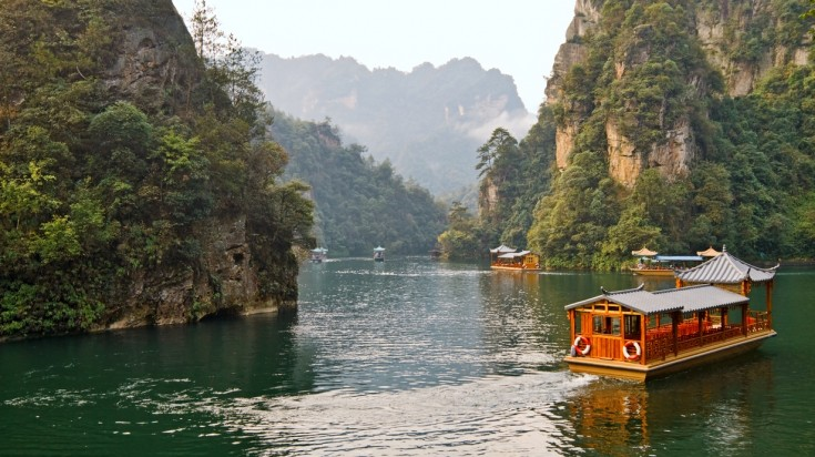 Zhangjiajie National Park offers one of its riches, 'Baefong Lake'