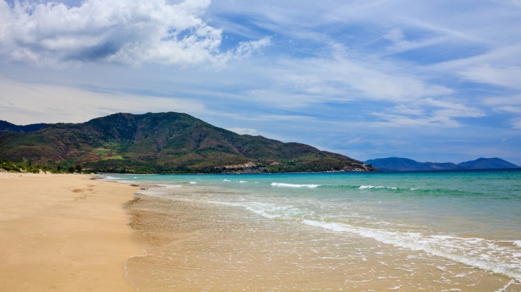 Bai Dai beach is beautiful and considered the best beach on the continent