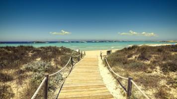 Formentera island in Balearic Islands