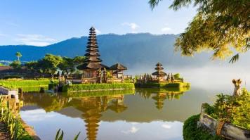 Pura Ulun Danu Bratan at Bali Indonesia