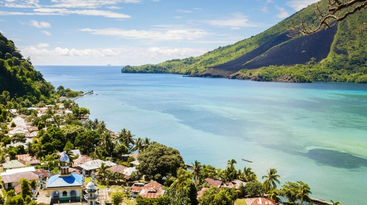 Banda island in Indonesia is a great place for hikes and treks