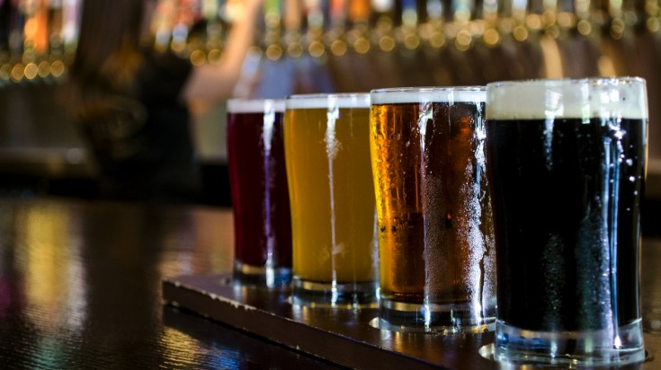 Tasting craft beer in Bariloche
