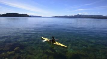 Kayak in Lago Nahuel Huapi