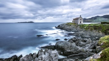 Mundaka Church in Basque Country