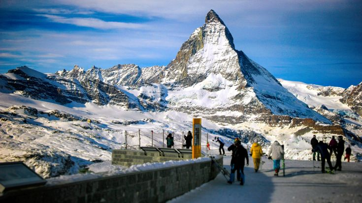 Picturesque view of the Zermatt in the Swiss Alps