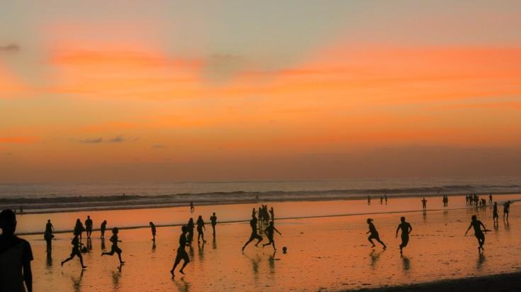 Kuta beach is one of the best beaches in Bali