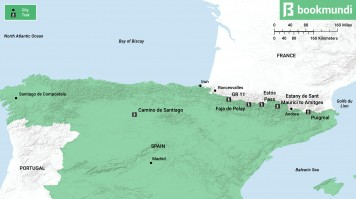 Map of Best Pyrenees Hiking in Spain