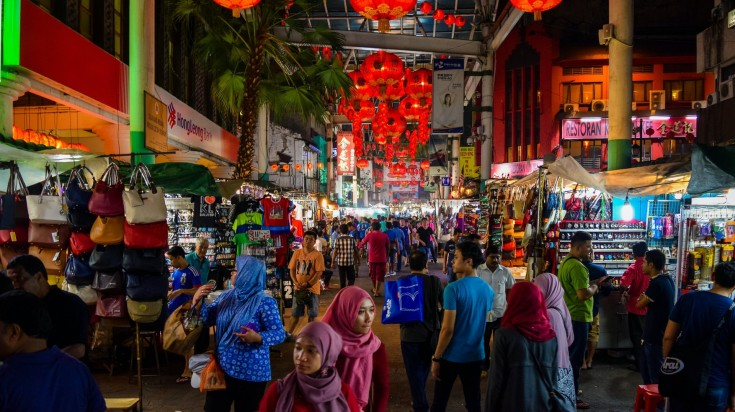 Colorful streets of Malaysia