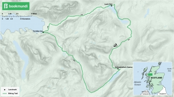 An overview map of the Beinn Damh biking trail.