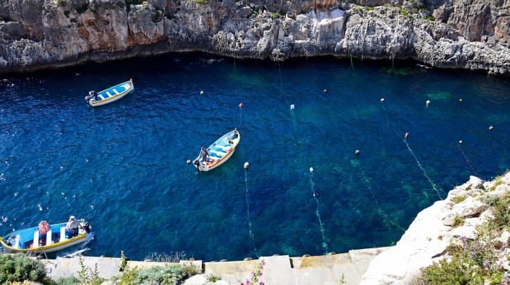 The Blue Grotto is Capri Island's most popular tourist attraction.